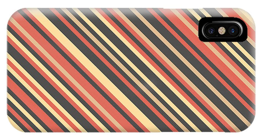 Abstract IPhone X Case featuring the digital art Striped Pattern by Mike Taylor