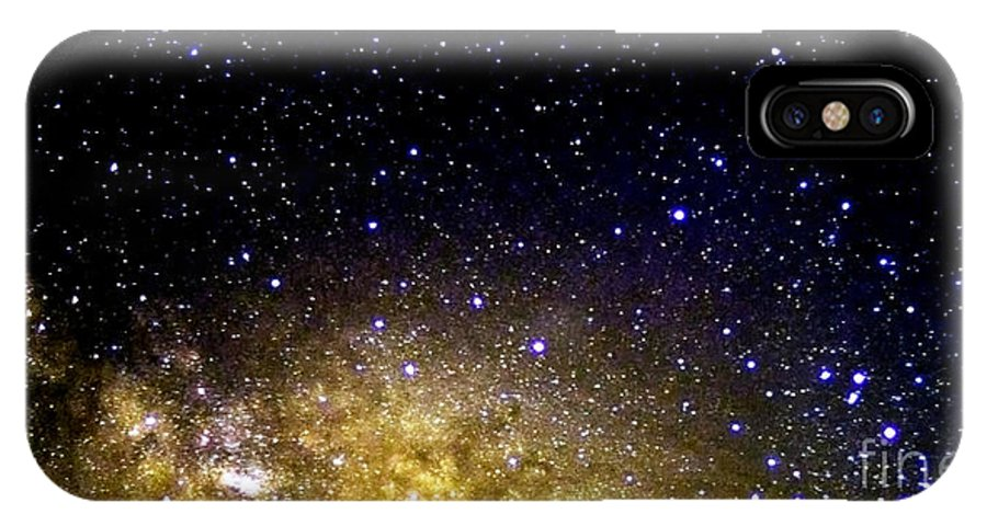 Stars IPhone X Case featuring the photograph Under The Milky Way by Thomas R Fletcher