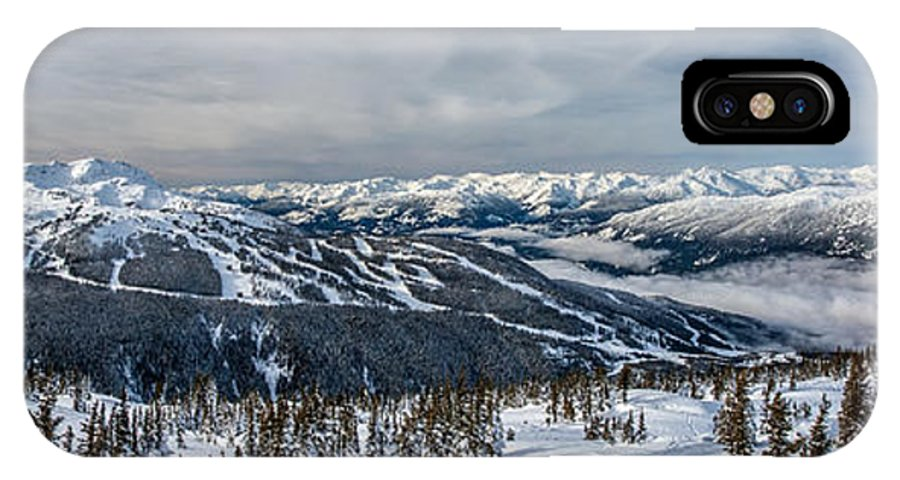 Whistler IPhone X Case featuring the photograph Whistler Mountain Peak View From Blackcomb by Pierre Leclerc Photography