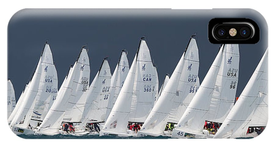 Sail IPhone X Case featuring the photograph All Sail by Steven Lapkin