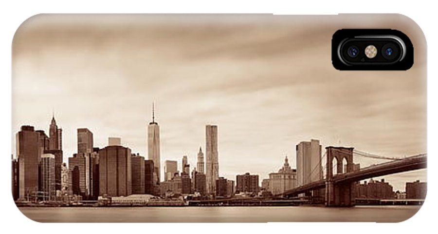 New York City IPhone X Case featuring the photograph Manhattan by Songquan Deng