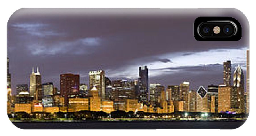 Chicago Skyline IPhone X / XS Case featuring the photograph Chicago Skyline  by Patrick Warneka