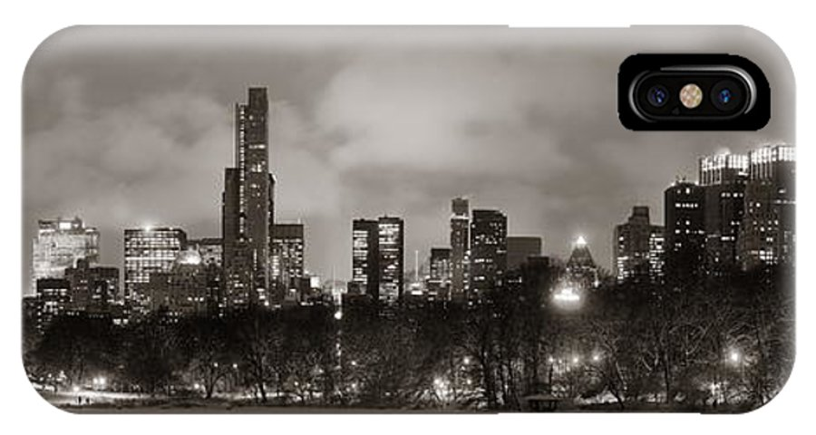 Manhattan IPhone X Case featuring the photograph Central Park Winter by Songquan Deng