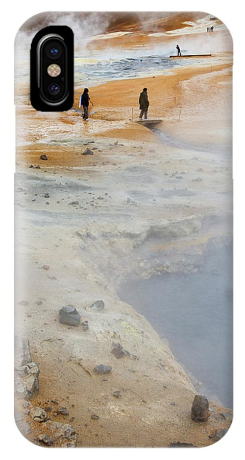 Area IPhone X Case featuring the photograph Iceland, Ice & Fire by Mikel Bilbao