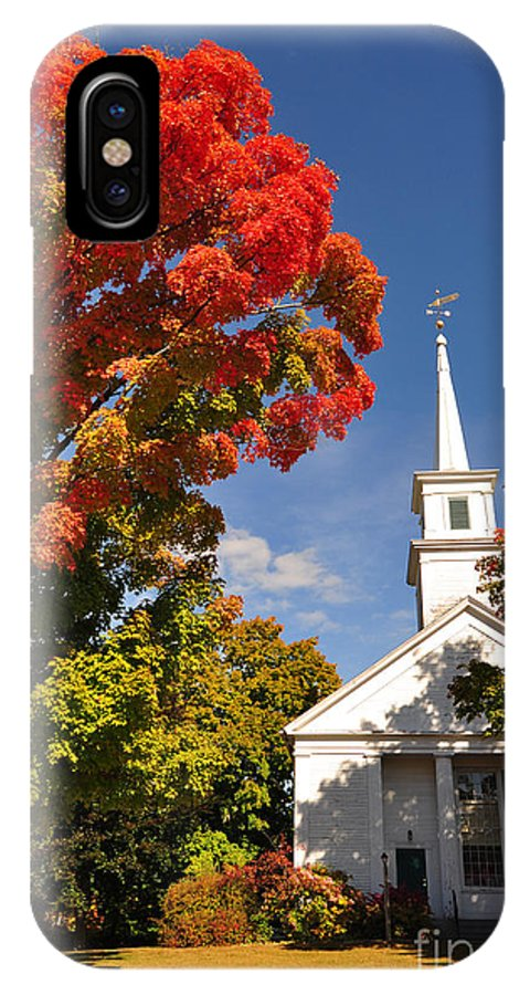 Autumn IPhone X Case featuring the photograph Lunenburg, Ma - Fall Foliage by Staci Bigelow
