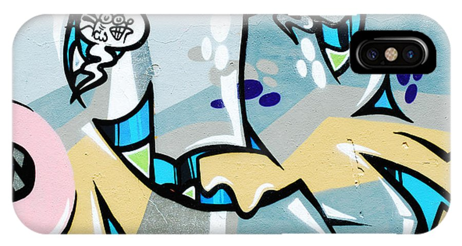 Graffiti IPhone X Case featuring the photograph Graffiti by Luis Alvarenga