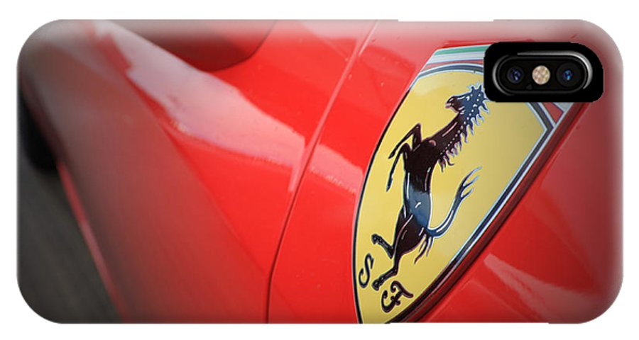 Ferrari IPhone X Case featuring the photograph 458 Red by Roger Lighterness