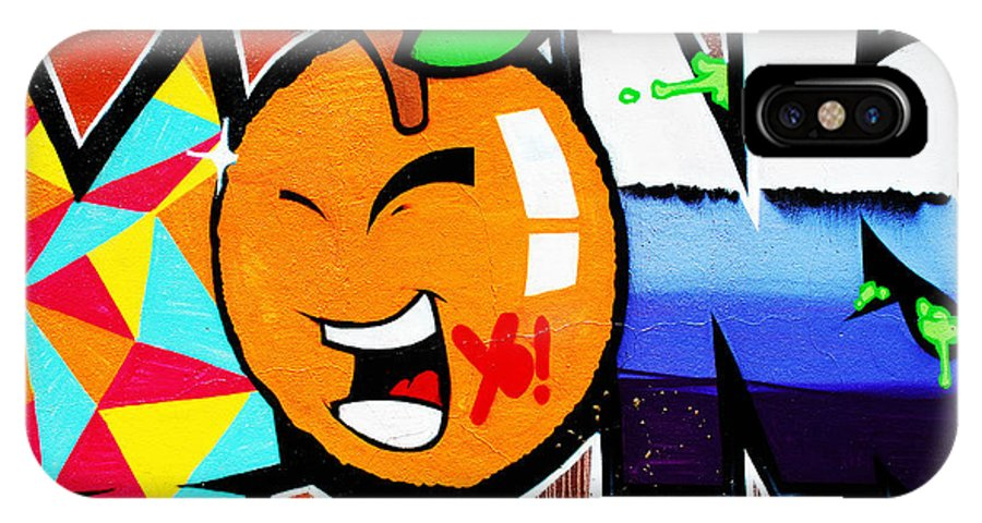 Graffiti IPhone X Case featuring the photograph Graffiti by Luis Alvarenga
