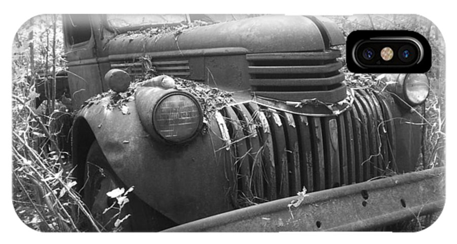 46 Chevy Truck IPhone X Case featuring the photograph 46 Work Horse by Kendra DeBerry