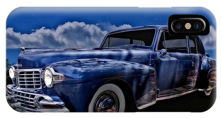 Hot Rod Art IPhone X Case featuring the photograph 48 Lincoln Continental By Moonlight by Chas Sinklier