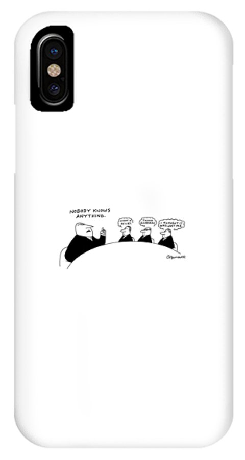 Executives IPhone X Case featuring the drawing New Yorker September 29th, 2008 by Charles Barsotti
