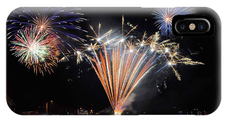 Fireworks IPhone X Case featuring the photograph 4th Of July by Brian OSullivan