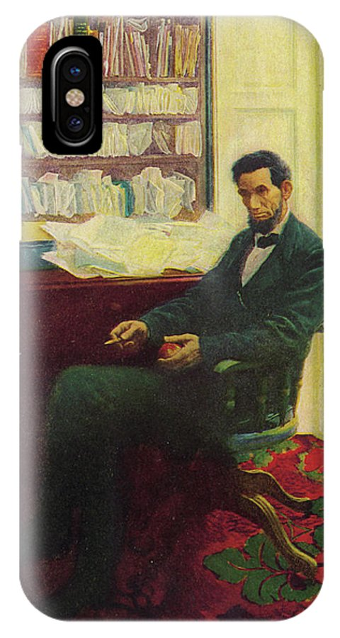 Lincoln IPhone X Case featuring the drawing Abraham Lincoln (1809 - 1865) U by Mary Evans Picture Library