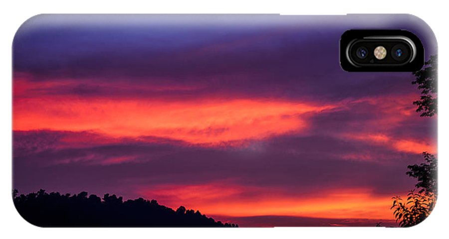 Sunset IPhone X Case featuring the photograph Appalachian Sunset by Thomas R Fletcher