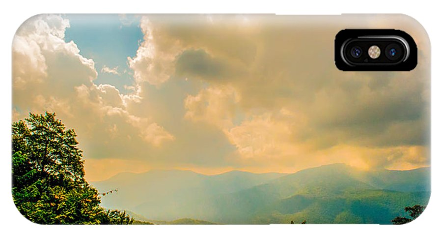 View IPhone X Case featuring the photograph Blue Ridge Parkway Scenic Mountains Overlook by Alex Grichenko