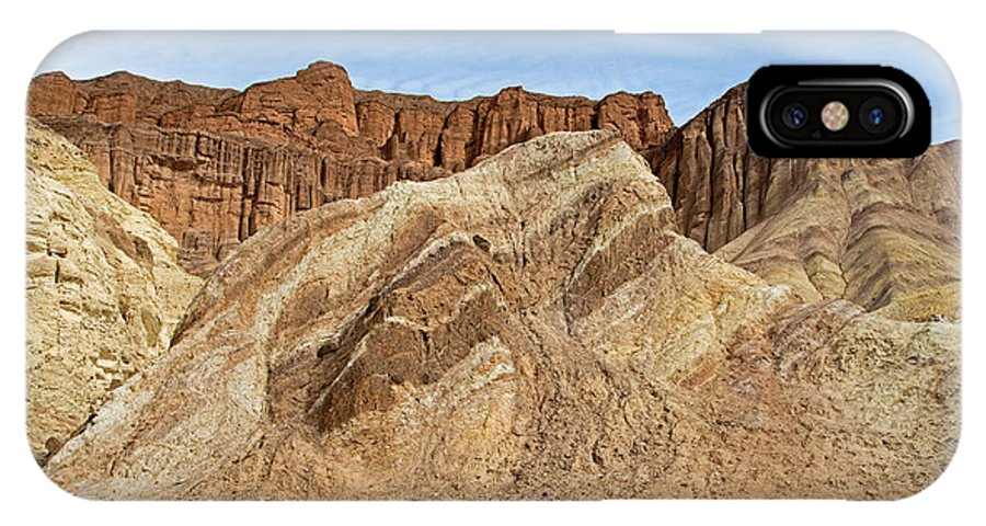 Afternoon IPhone X Case featuring the photograph Golden Canyon Death Valley National Park by Fred Stearns