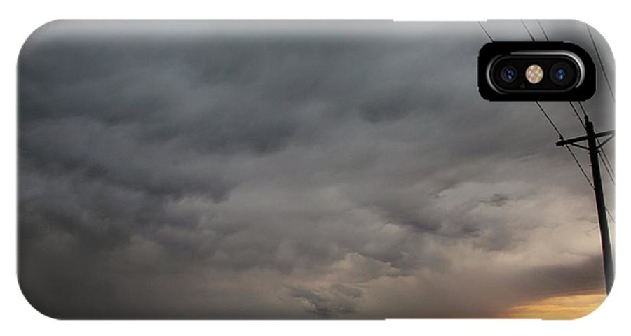 Stormscape IPhone X Case featuring the photograph Let The Storm Season Begin by NebraskaSC