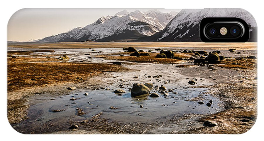Alaska IPhone X Case featuring the photograph Low Tide by Michele Cornelius