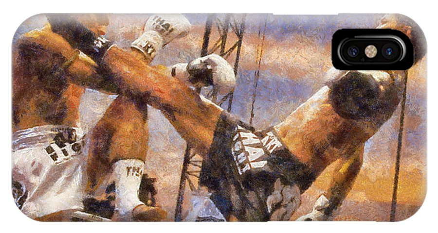 Muay Thai IPhone X Case featuring the digital art Muay Thai Arts Of Fighting by Rames Ratyantarakor