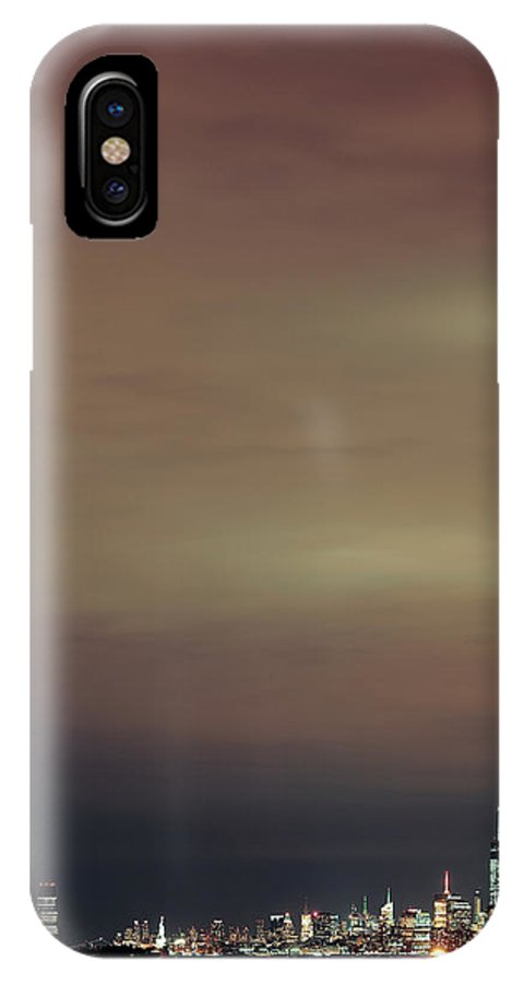 New York City IPhone X Case featuring the photograph New York City Night by Songquan Deng