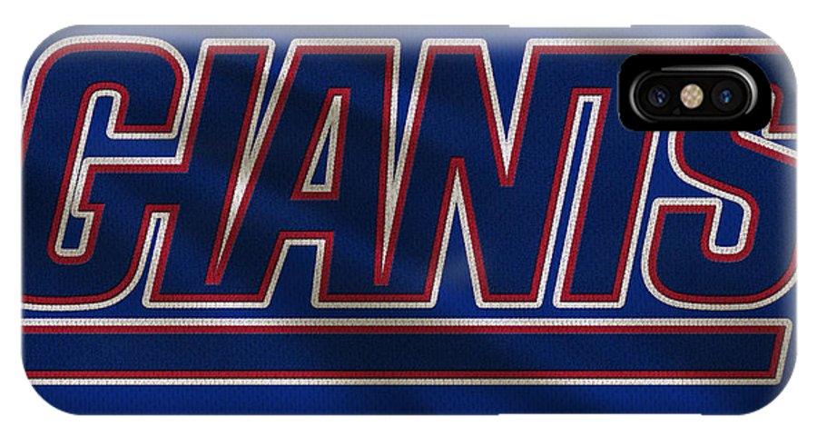 Giants IPhone X Case featuring the photograph New York Giants Uniform by Joe Hamilton