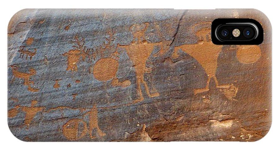 Petroglyphs IPhone X Case featuring the photograph Petroglyphs by Jim Romo