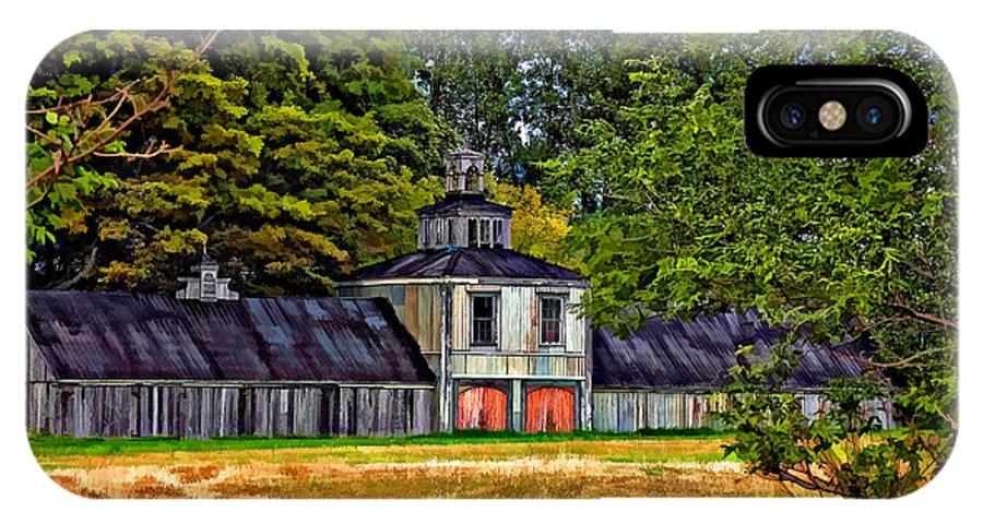 Barn IPhone X Case featuring the photograph 5 Star Barn Paint Filter by Steve Harrington