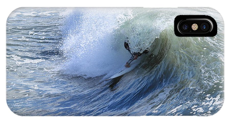 Surfing IPhone X Case featuring the photograph Surfer by Henrik Lehnerer