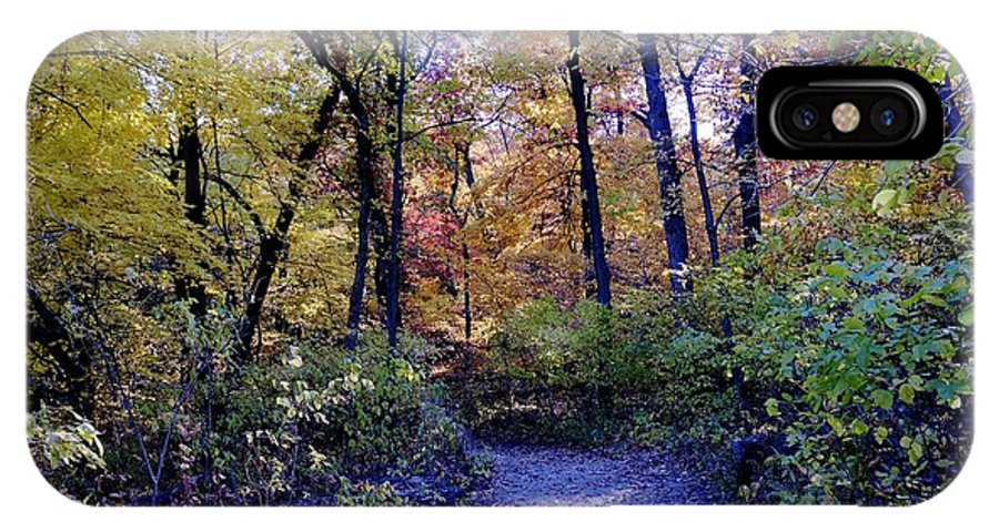 Fall IPhone X Case featuring the photograph A Path In The Woods by Patrick Warneka
