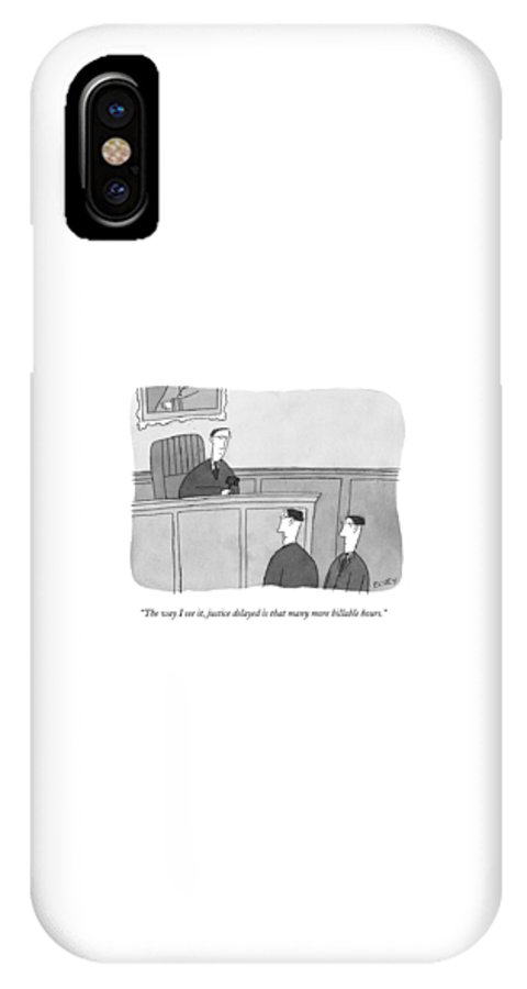 Courtroom Scenes IPhone X Case featuring the drawing The Way I See by Peter C. Vey