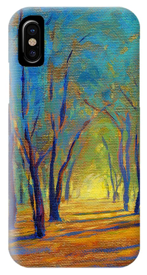 Tree IPhone X / XS Case featuring the painting Colors Of Spring by Konnie Kim