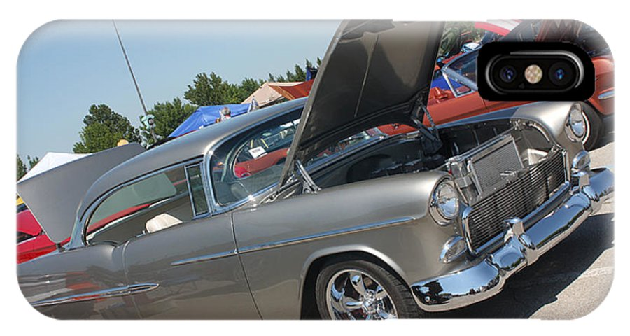 1955 Chevrolet Bel Air IPhone X Case featuring the photograph 55 Bel Air-8206 by Gary Gingrich Galleries