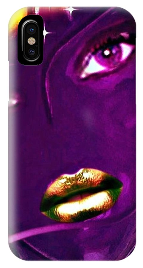 Pikotine IPhone X Case featuring the painting Pikotine Art by Pikotine Art