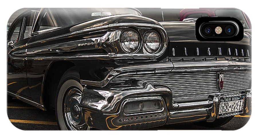 Classic Car IPhone X Case featuring the photograph 58 Oldsmobile Super 88 by Daniel Enwright