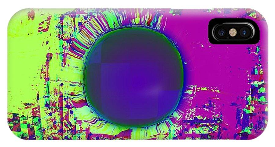 New IPhone X Case featuring the digital art A La Mode by Meiers Daniel