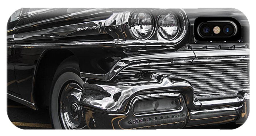Classic Car IPhone X Case featuring the photograph 58oldsmobile Super 88 Headlights by Daniel Enwright