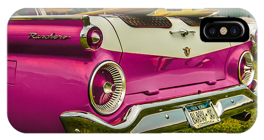 Classic Car IPhone X Case featuring the photograph 59 Ranchero With Surfboards by Daniel Enwright