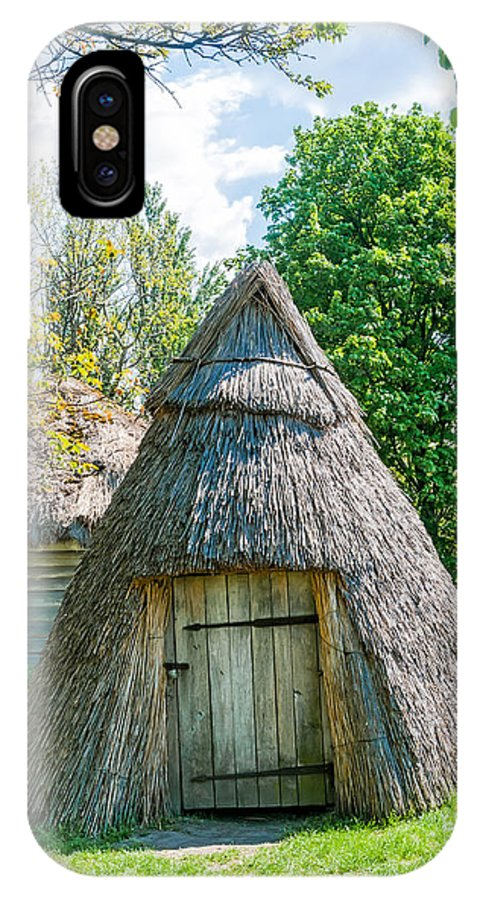 Kiev IPhone X Case featuring the photograph A Typical Ukrainian Antique Hut by Alain De Maximy