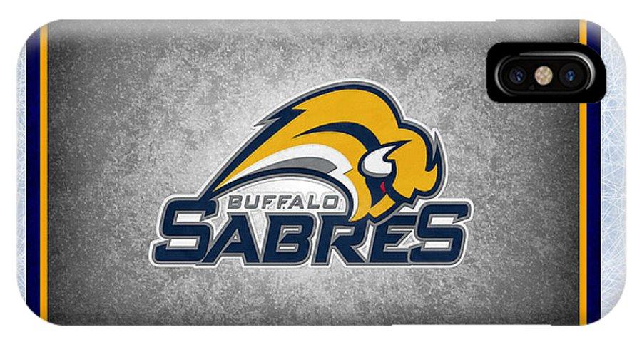 Sabres IPhone X Case featuring the photograph Buffalo Sabres by Joe Hamilton