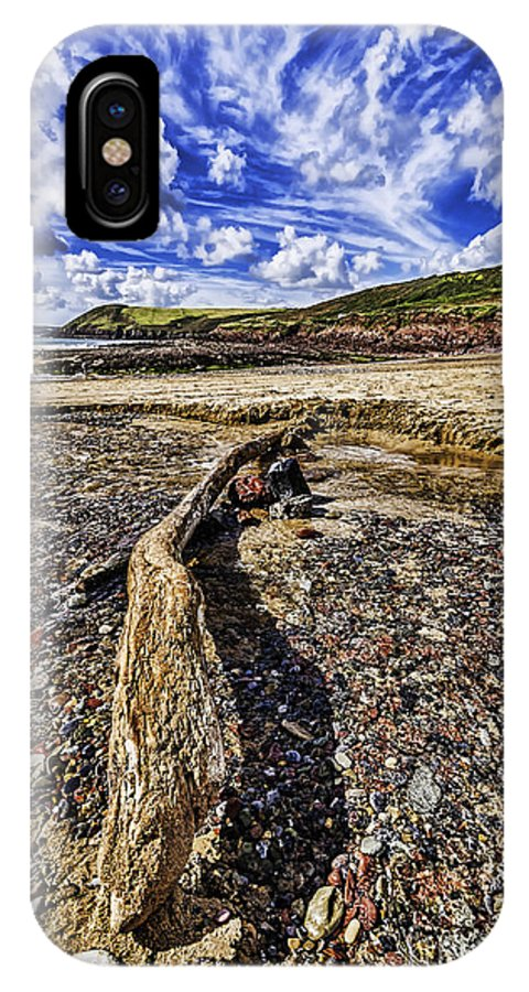 Driftwood IPhone X Case featuring the photograph Driftwood by Steve Purnell