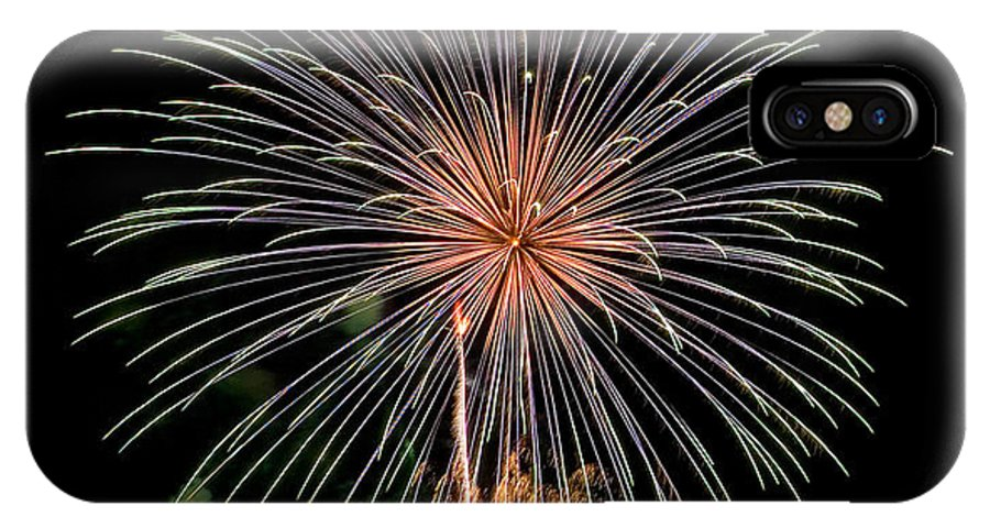 Fireworks IPhone X Case featuring the photograph Fire Works by Devinder Sangha