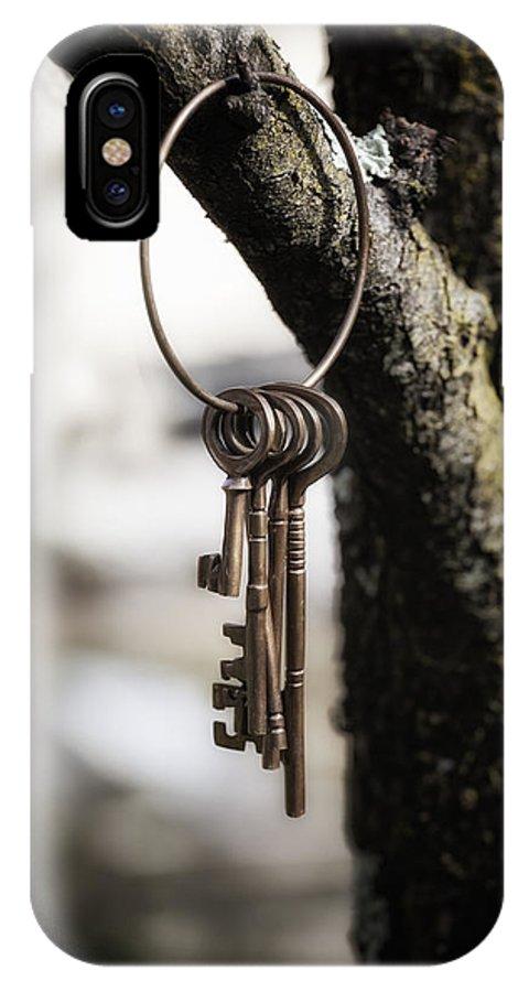 Key IPhone X Case featuring the photograph Keys by Joana Kruse