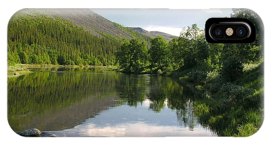 Beautiful IPhone X Case featuring the photograph Mountain Lake by IB Photography