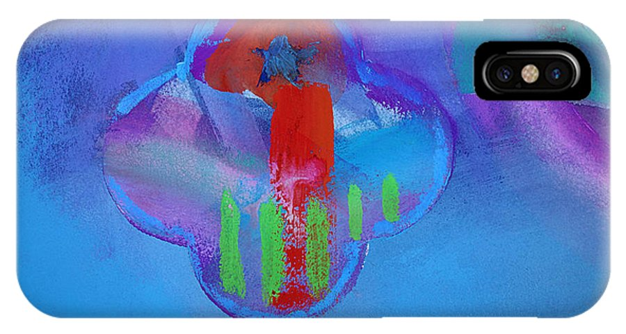 Texas Art IPhone X Case featuring the painting One by Charles Stuart