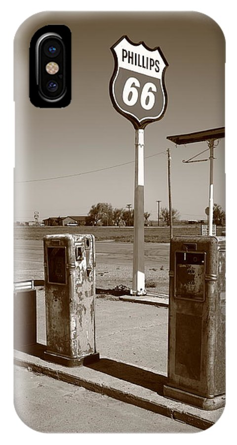 66 IPhone X Case featuring the photograph Route 66 Gas Pumps by Frank Romeo