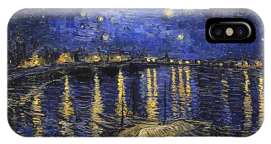Vincent Van Gogh IPhone X / XS Case featuring the painting Starry Night Over The Rhone by Vincent van Gogh