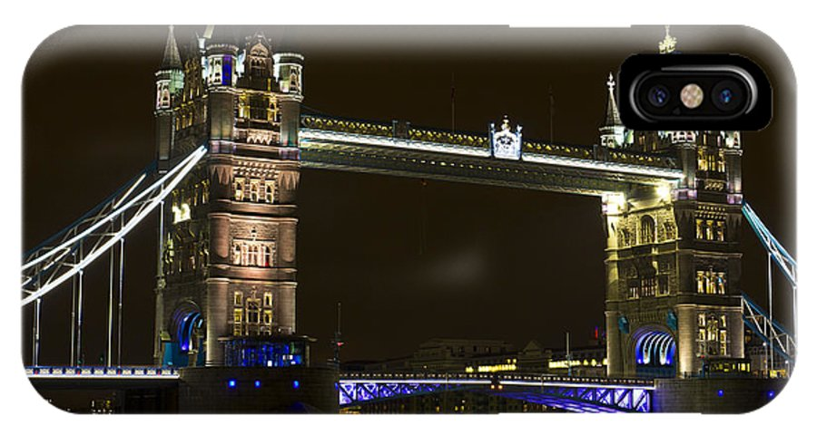 Tower Bridge IPhone X Case featuring the photograph Tower Bridge London by David Pyatt