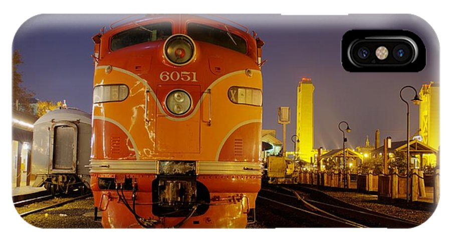 Emd E9 Diesel IPhone X Case featuring the photograph 6051 by Mike Ronnebeck