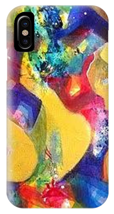 IPhone X Case featuring the painting Sold by Sanjay Punekar