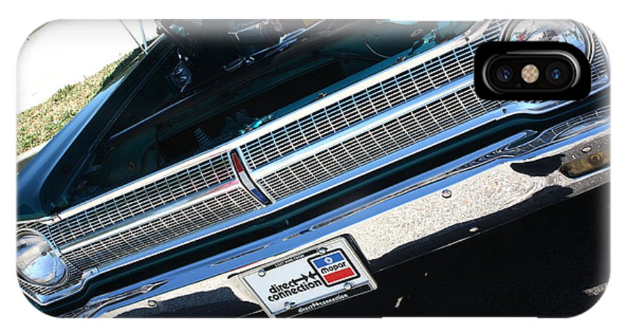 1965 IPhone X Case featuring the photograph 65 Plymouth Satellite Grill-8481 by Gary Gingrich Galleries